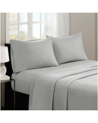Madison Park 3M Microcell Queen Sheet Set in Grey - Olliix MP20-2385