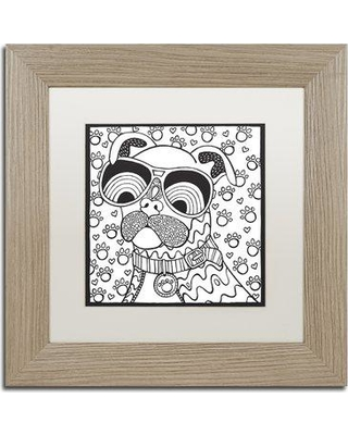 "East Urban Home 'Cool Pooch' Framed Graphic Art ETRB1273 Size: 11"" H x 11"" W x 0.5"" D Matte Color: White"