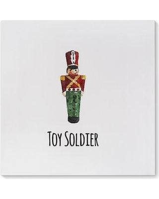 Kavka 'Toy Soldier' Textual Art Print on Canvas CAN-GW12S-12X12-TEL1263