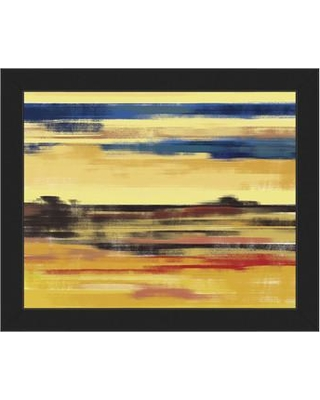"""Click Wall Art Meringue Mirage Framed Painting Print on Canvas CBS0002182FRA Frame Color: Black Size: 22.5"""" H x 26.5"""" W x 1"""" D"""