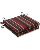Charlton Home Indoor Lounge Chair Cushion BF003336 Fabric: Red/Brown
