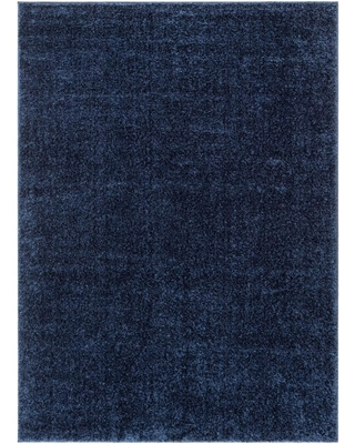 Find Big Savings On Well Woven Rainbow Chroma Glam Solid Indigo Blue 5 Ft 3 In X 7 Ft 3 In Multi Textured Shimmer Pile Shag Area Rug
