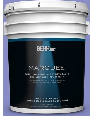 BEHR MARQUEE 5 gal. #P550-5 Carriage Ride Satin Enamel Exterior Paint and Primer in One