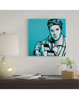 """East Urban Home 'Elvis' Graphic Art Print on Canvas EBHU8250 Size: 37"""" H x 37"""" W x 1.5"""" D"""