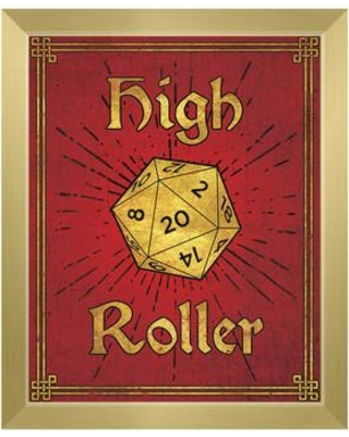 """Click Wall Art High Roller Framed Painting Print on Canvas in Ruby Gold GRM0000127FRM Size: 11"""" H x 14"""" W Format: Gold Framed"""
