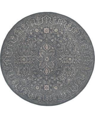 Safavieh Glamour Steel/Blue (Silver/Blue) 6 ft. x 6 ft. Round Area Rug