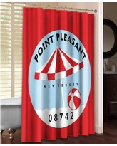 LauralHome Point Pleasant Shower Curtain PTP74SC / PTPII74SC Color: Red