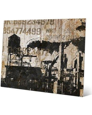 "Click Wall Art Industrial Park Codes Graphic Art on Plaque IND0000164MTL Size: 8"" H x 10"" W x 1"" D"