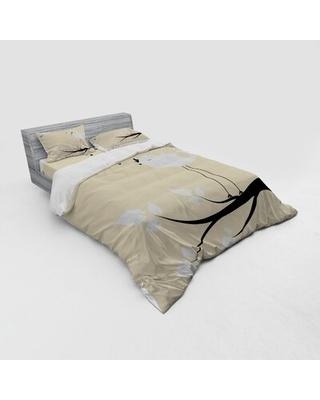 Birds Duvet Cover Set East Urban Home Size: Queen Duvet Cover + 3 Additional Pieces