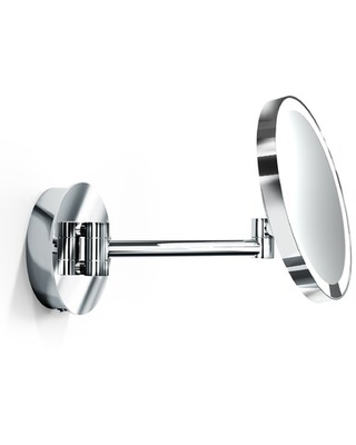 Modern & Contemporary Lighted Magnifying Makeup / Shaving Mirror WS Bath Collections Finish: Polished Chrome