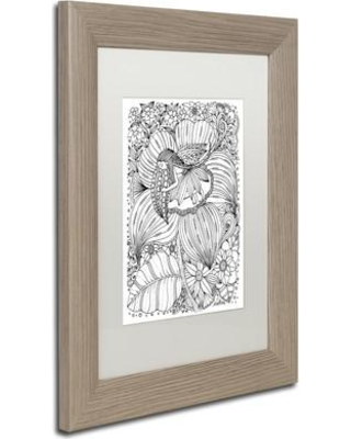 """Trademark Art 'Fairy' by KCDoodleArt Framed Graphic Art ALI3598-T1 Size: 14"""" H x 11"""" W x 0.5"""" D Matte Color: White"""