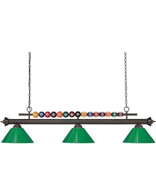Red Barrel Studio Chapa 3-Light Kitchen Island Pendant W000196849 Shade Color: Green