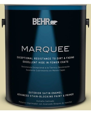 BEHR MARQUEE 1 gal. #MQ4-40 Primitive Green Satin Enamel Exterior Paint and Primer in One