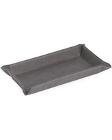 """Winston Porter Trinket Dish Finish: Gray, Leather/Faux Leather in Brown/Gray/Black, Size 1""""H X 4""""W X 8""""D 
