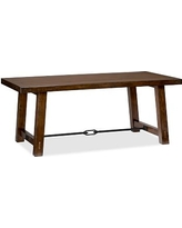 """Benchwright Dining Table, 74 x 38"""" Rustic Mahogany stain"""