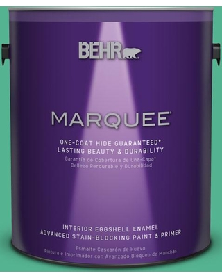 BEHR MARQUEE 1 gal. #MQ4-16 Aruba Green One-Coat Hide Eggshell Enamel Interior Paint and Primer in One