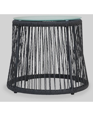 Southport Steel and Rope Side Table - Dark Gray - Christopher Knight Home