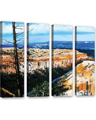 """Loon Peak Mountain Tops Sky 4 Piece Painting Print on Wrapped Canvas Set LOON8854 Size: 36"""" H x 48"""" W x 2"""" D"""
