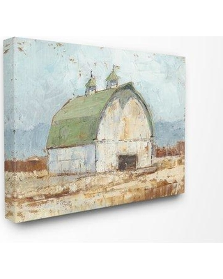 "Gracie Oaks 'Natural Earth Painted Barn' Graphic Art Print BI194781 Size: 16"" H x 20"" W x 1.5"" D Format: Canvas"