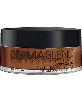 Dermablend Cover Creme High Coverage Foundation with SPF 30, 80W Chocolate Brown, 1 Oz.