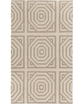 Surya Flatweave Cinder Tufted Wool Ivory Area Rug YA61475 Rug Size: Rectangle 8' x 10'
