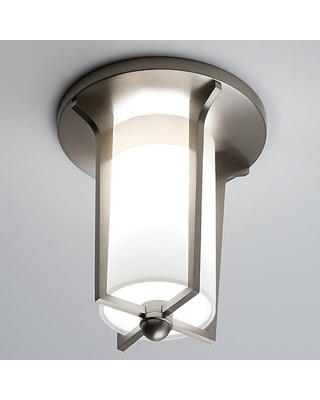 Soleil Flush Mount Ceiling Light by Boyd Lighting - Color: White - Finish: Satin Copper - (10240/S/CP)