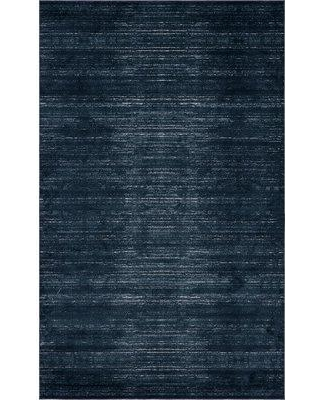Jill Zarin™ Uptown Madison Avenue Navy Blue Area Rug 314107 Rug Size: Rectangle 5' x 8'