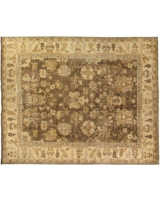 Exquisite Rugs Oushak Hand-Knotted Wool BrownBeige Area Rug 2003-A0E0 / 2003-C0F0 / 2003-E0I0 Rug Size: Rectangle 6' x 9'
