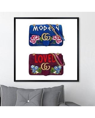 """House of Hampton 'Doll Memories Lover' Graphic Art Print W001038000 Size: 26"""" H x 26"""" W x 0.5"""" D Format: Picture Frame"""