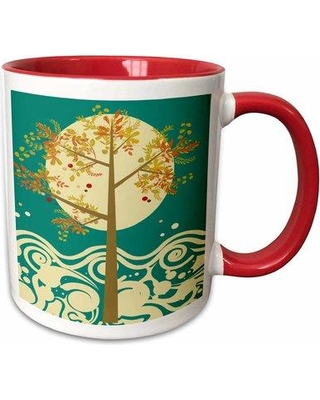 Symple Stuff Galena Pretty Summer Tree Nature Design Coffee Mug W000265951 Color: Red
