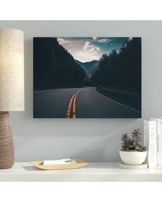 """Ebern Designs 'A Road to Many Places (7)' Photographic Print on Canvas BI100578 Size: 7"""" H x 21"""" W x 2"""" D"""