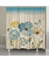 Red Barrel Studio Argelia Water Color Poppies Shower Curtain RBRS8420