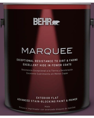 BEHR MARQUEE 1 gal. #PPU17-03 Vixen Flat Exterior Paint and Primer in One