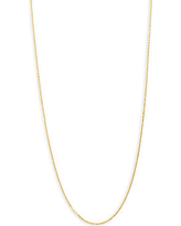 14K Yellow Gold Adjustable Chain Necklace