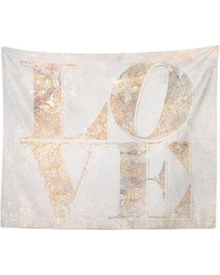 Oliver Gal 'Build on Love Champagne' Wall Tapestry OLGL3968