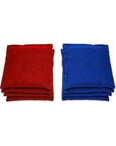 AJJCornhole Swiss American Cornhole Set 107-Swiss American with red/ bags Color: Red/Royal