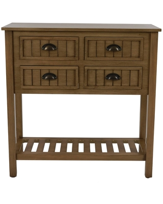 Bailey Bead Board 4 Drawer Console Table Pine - Décor Therapy