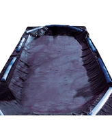 Swimline 8-Year 20 ft. x 40 ft. Rectangle Black Economy In-Ground Winter Pool Cover