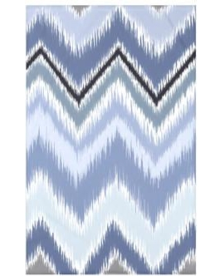 "e by design Ikat-arina Stripe Print Polyester Fleece Throw Blanket HSN142 Size: 60"" L x 50"" W x 0.5"" D Color: Seaside"