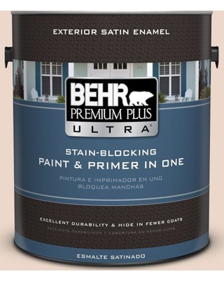 BEHR ULTRA 1 gal. #S210-1 Nutmeg Frost Satin Enamel Exterior Paint and Primer in One
