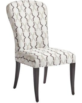 Barclay Butera Brentwood Upholstered Dining Chair 01-0915-882-01 / 01-0915-882-40 Upholstery Color: White