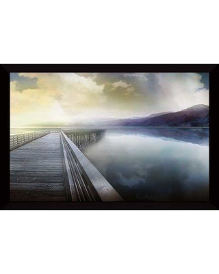 """Millwood Pines 'Hazy Morning' Framed Acrylic Painting Print BF126334 Size: 35.5"""" H x 51.5"""" W x 0.75"""" D"""