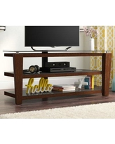 """Red Barrel Studio® Wensley TV Stand for TVs up to 58""""Wood/Metal in Brown/Red, Size 58.0 H x 52.0 W x 21.6 D in 