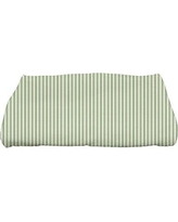 Gracie Oaks Monroe Ticking Stripe Bath Towel GRCS4438 Color: Green
