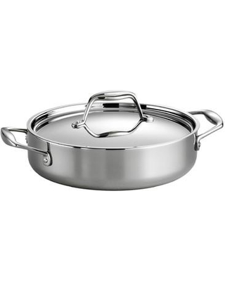 Tramontina Tramontina Gourmet Tri-Ply Clad Stainless Steel Round Braiser w/ Lid, Stainless Steel, Size 3 qt | Wayfair 80116/009DS