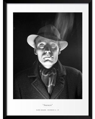 """Artography Limited 'Smoker' Framed Photographic Print Poster BF033277 Size: 25"""" H x 19"""" W x 1.25"""" D"""