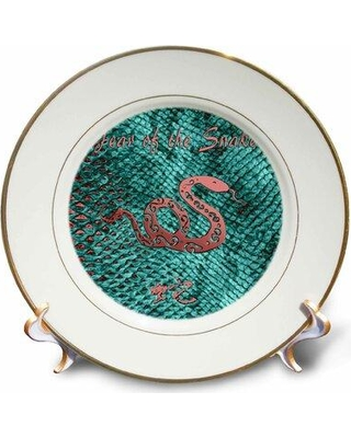 East Urban Home Year of the Snake Porcelain Decorative Plate W001482973