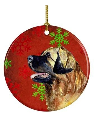 Shop Deals For The Holiday Aisle Leonberger Snowflake Holiday Christmas Ceramic Hanging Figurine Ornament Ceramic Porcelain In Red Brown Black Size 3 H X 3 W