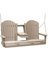 Spectacular Sales For Ebern Designs Rosalin Adirondack Porch Swing X112944414 Frame Color White
