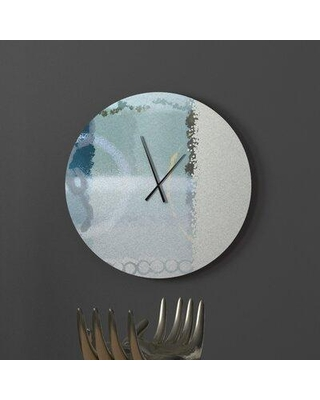 Amazing Deals On Ebern Designs Radiant Swish Abstract Metal Wall Clock Metal In Beige Size Large Wayfair 6e3b1159aee64944bf9091a2fb7830f6